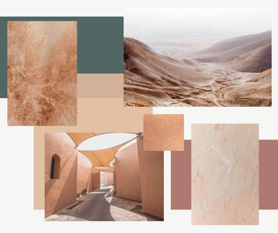 desert home trend moodboard