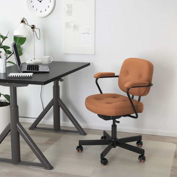 IKEA ALEFJÄLL Leather Adjustable Chair