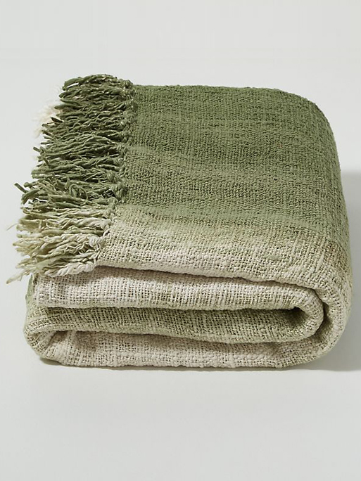 olive green throw