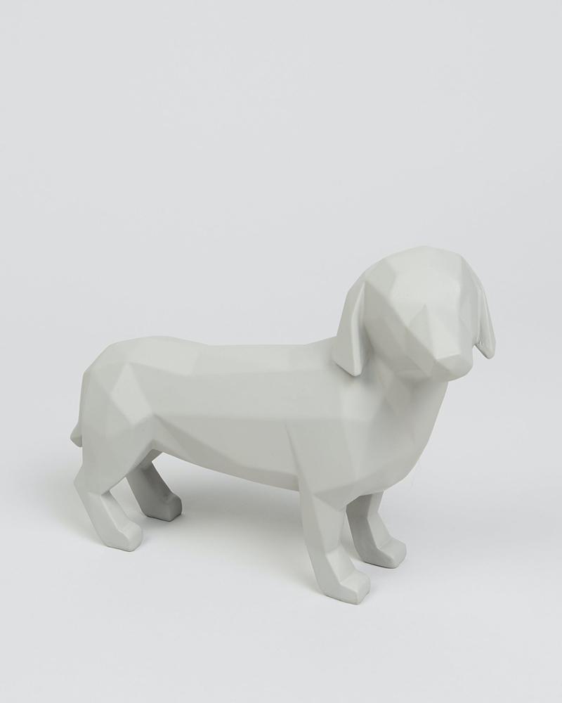 geometric dachshund matalan