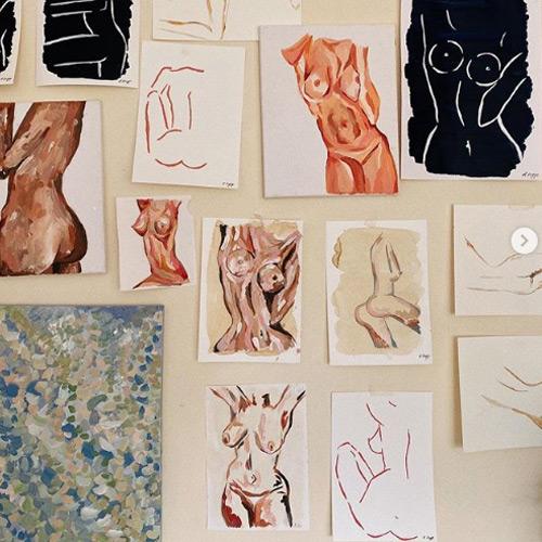 harlie briggs nude painting