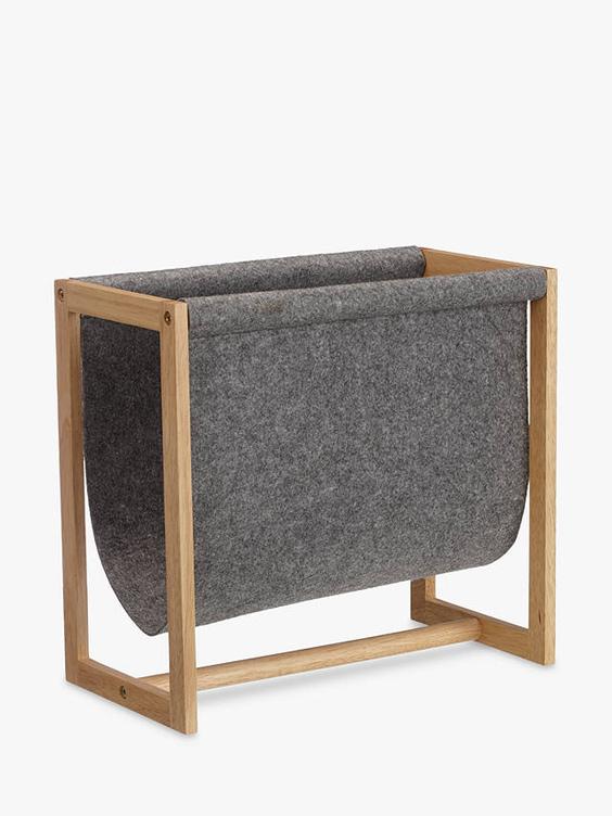 felt wooden magazine rack