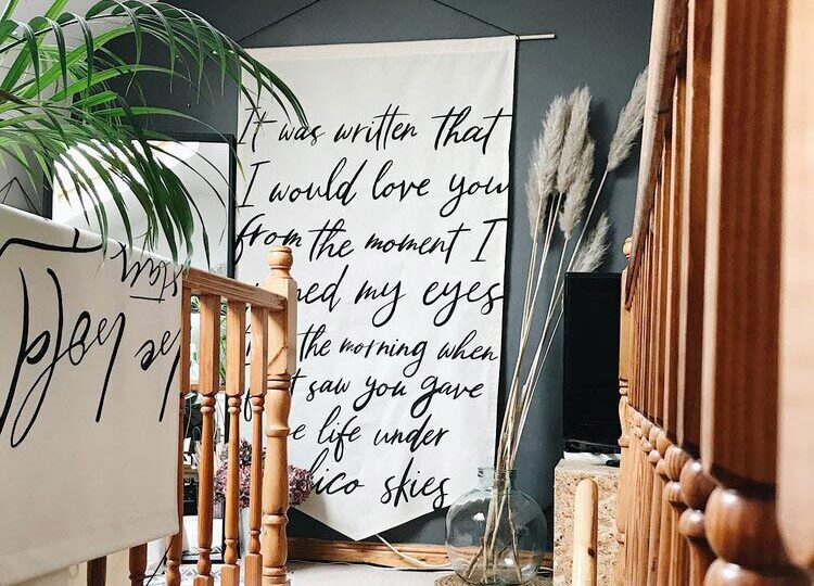 large wall hanging banner