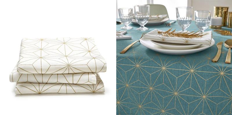christmas geometric napkins