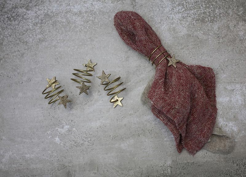 christmas star napkin rings