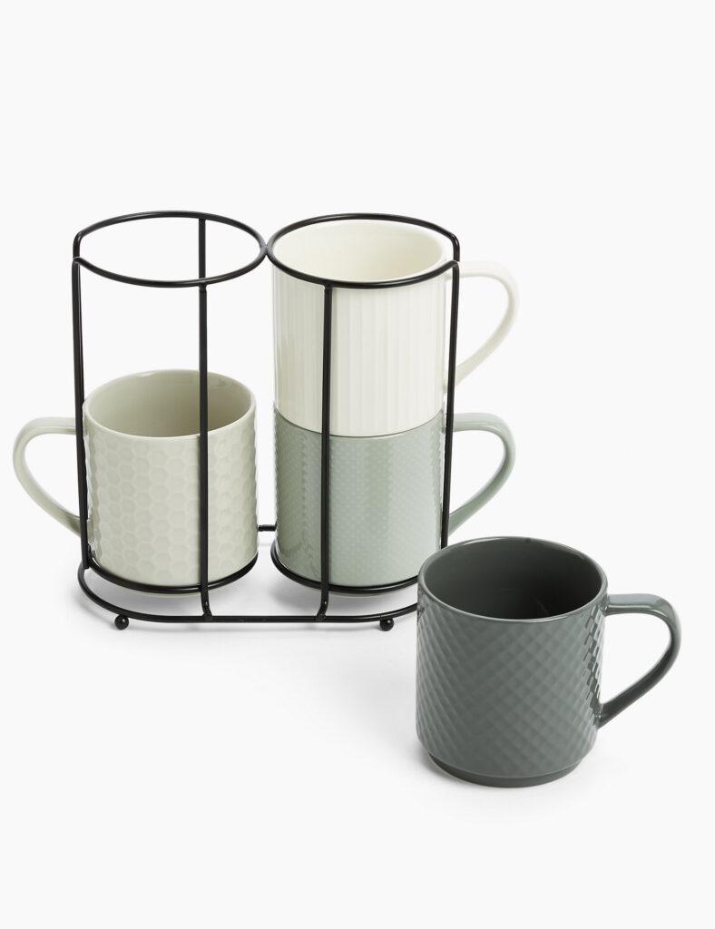 4 Stacking Mugs