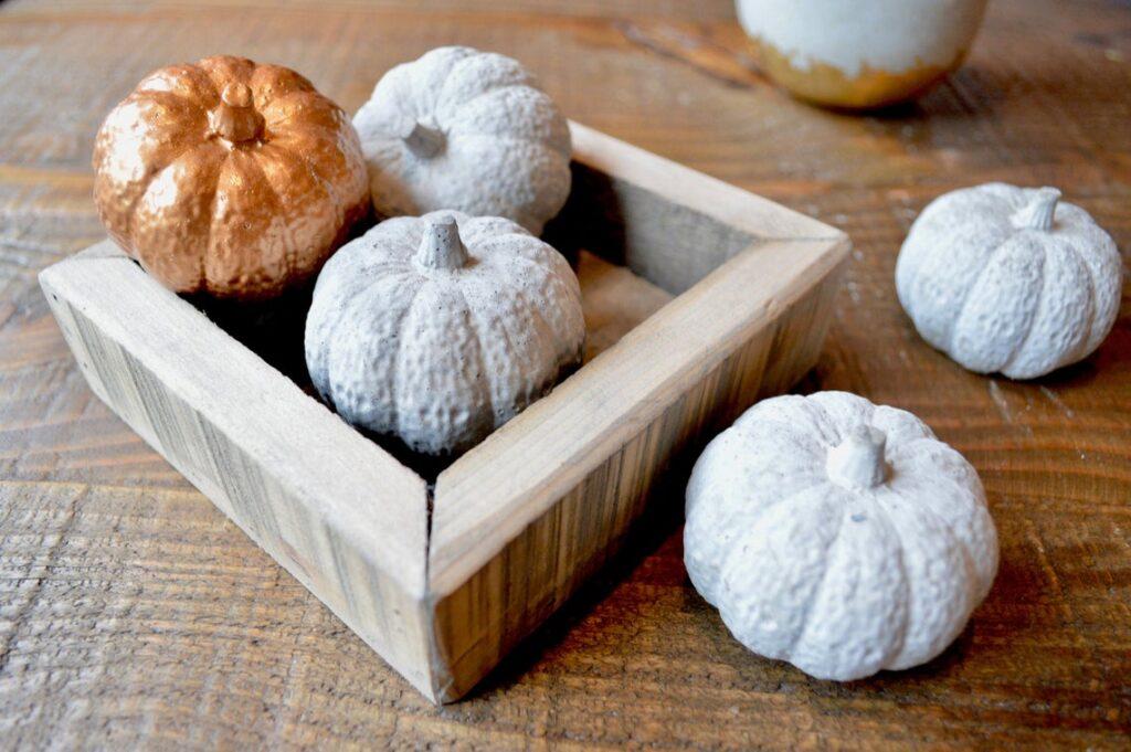 concrete pumpkin ornaments