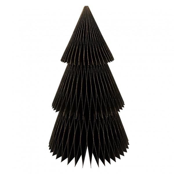 paper christmas tree black