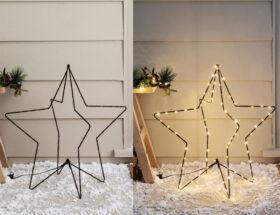3d christmas star light