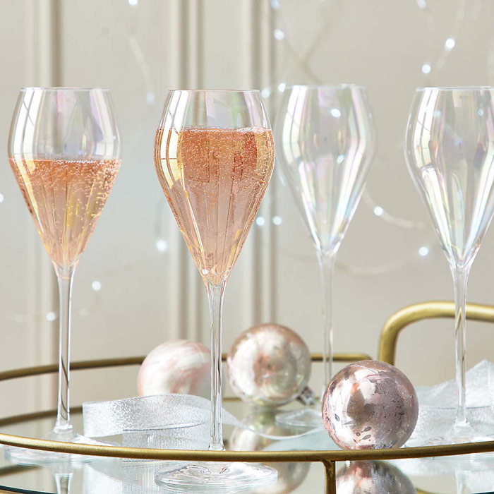 fancy prosecco glasses for christmas