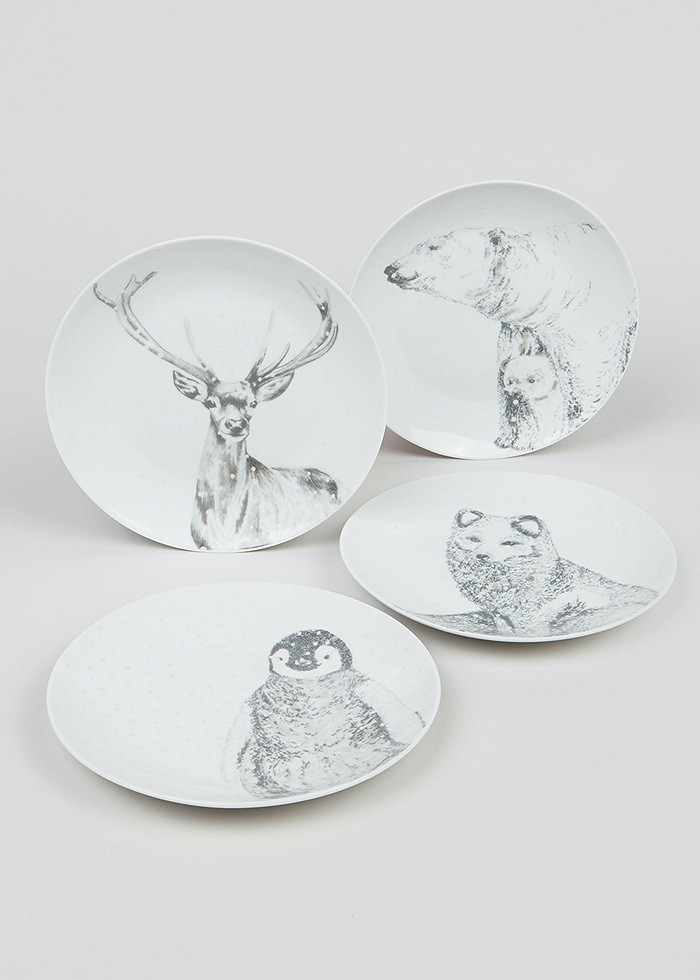 christmas and winter plates