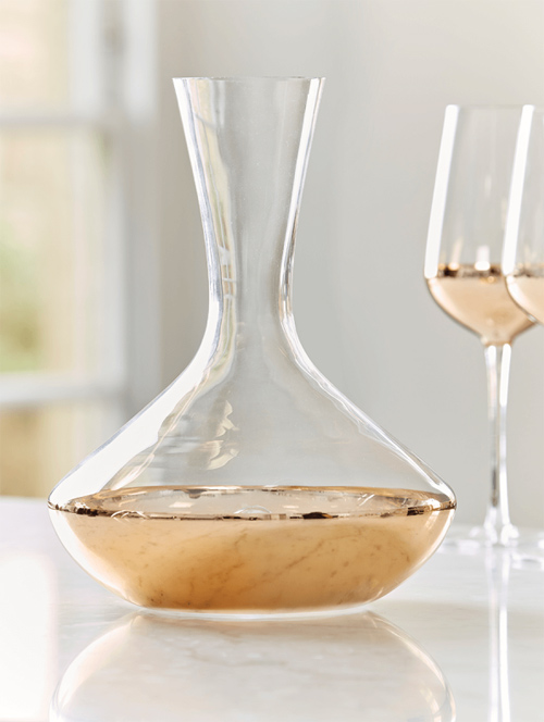 gold wine decanter
