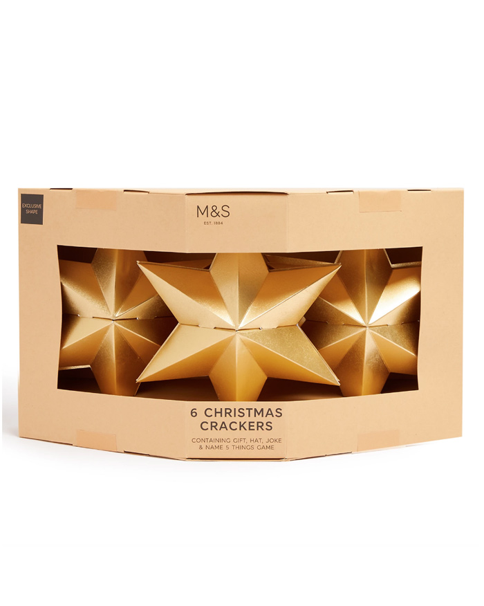 gold star christmas crackers
