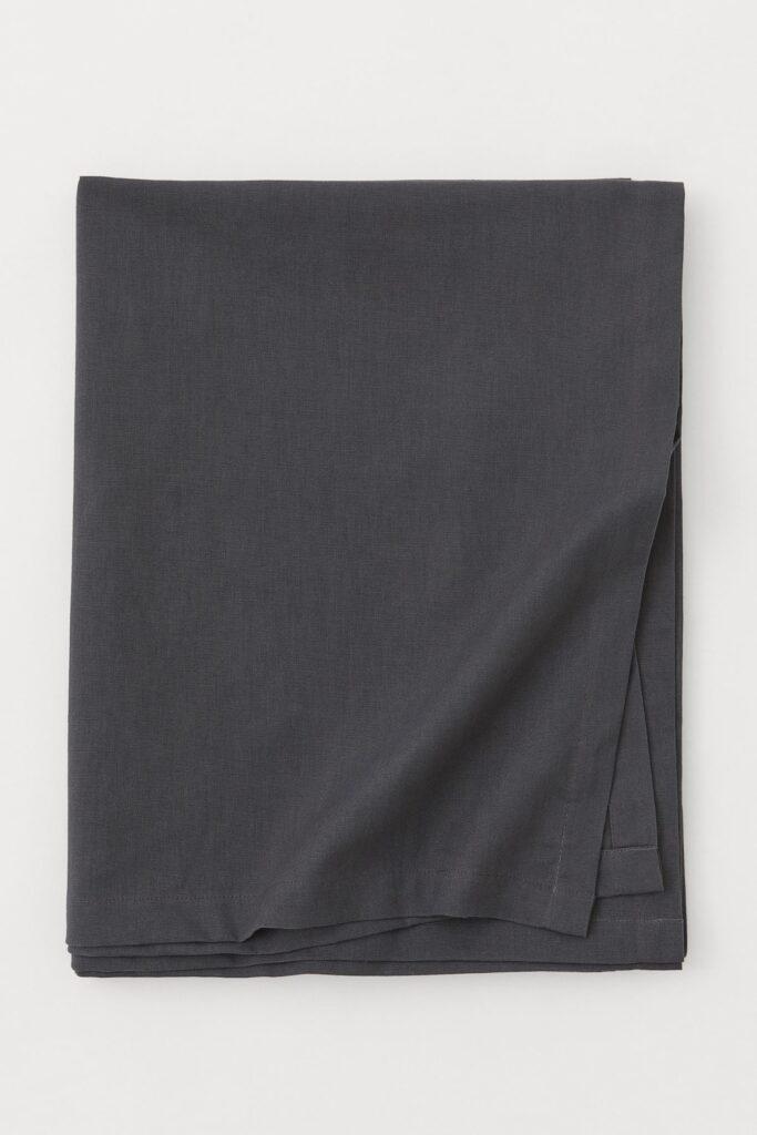 dark grey christmas table cloth