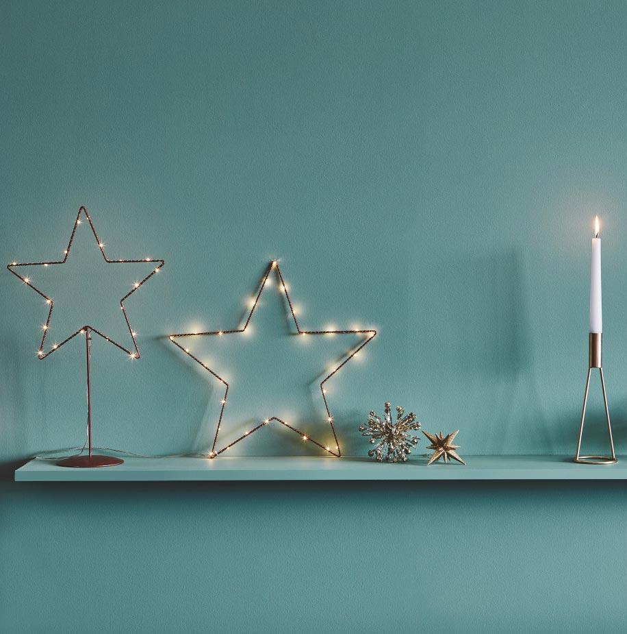 light up wire star
