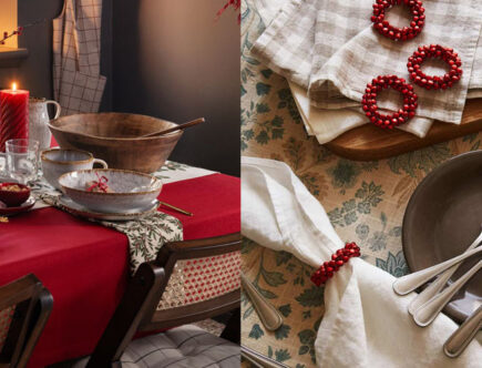 red christmas table setting ideas