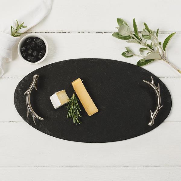 just slate cheese board oval