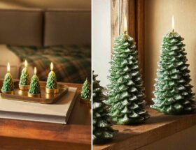 unusual tree christmas candles