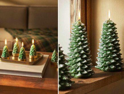 unusual tree christmas candles